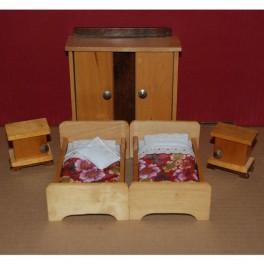Sovrum oldies 2 sängar med nattduksbord o garderob