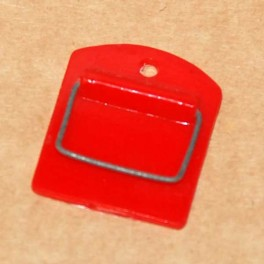 Toalettrulle hållare eller för handduken plast röd