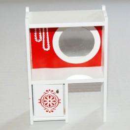 Lundby Sminkbord vit-röd