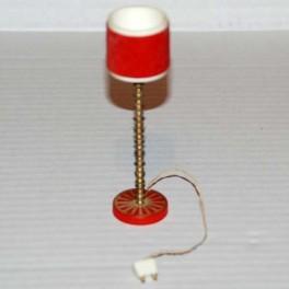 Lundby Golvlampa med röd skärm och röd fot