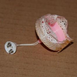 Lundby ArtNr. 6177 Taklampa Rosa spets
