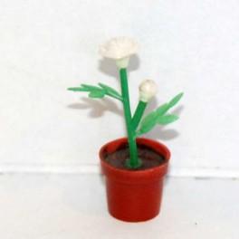Lundby Blomma Skära i liten söt vas vit-blå