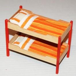 Lundby ArtNr 7501 Våningssäng orange