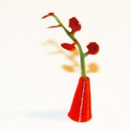U2+ Liten Vas med blomma