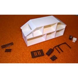 U2+ mini dockskåp modell större byggsats (brun)