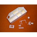 U2+ mini dockskåp modell större byggsats (vitt)