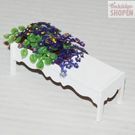 Lundby ArtNr 4205 Blombord vitt med blå blommor