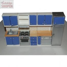 Lundby Komplett Kök blått 4 delar