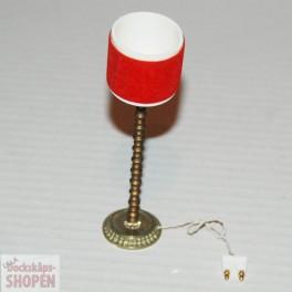 Lundby ArtNr 6158 Golvlampa röd sammet och guldig fot