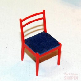 BRIO Stol Röd med blå dyna