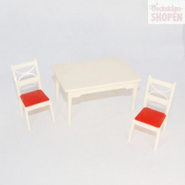 Renwal vitt bord och 2 stolar