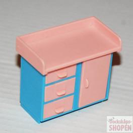 Jean Skötbord rosa blått